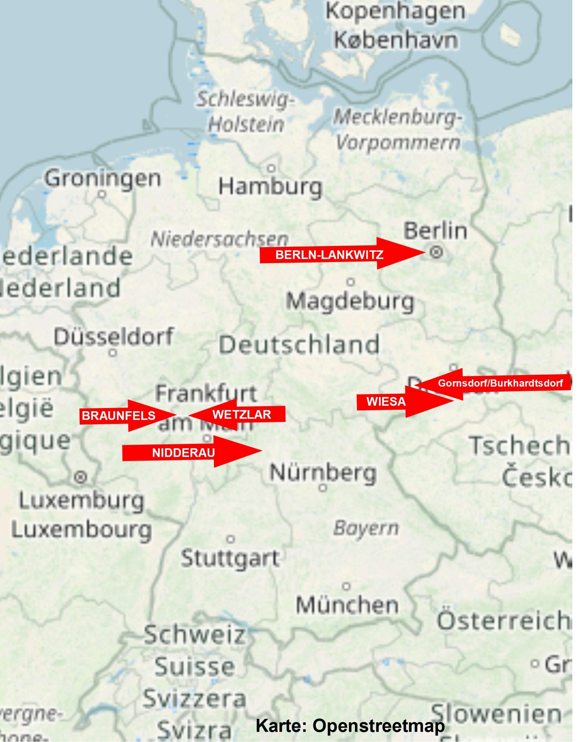 EmK-Gemeinden im Gemeinschaftsbund in Deutschland